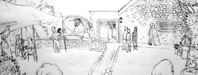 Miriam Garden Party Illustration