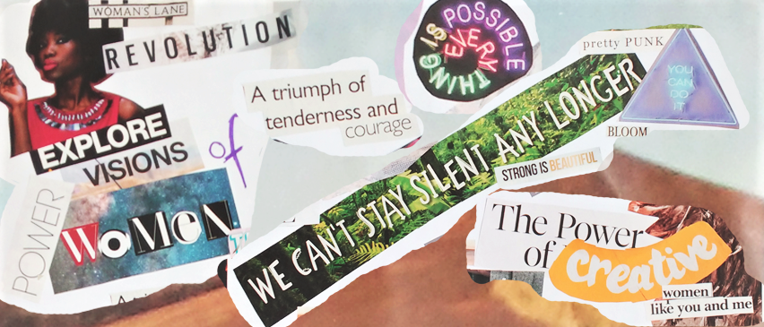 Slogans from the two collages