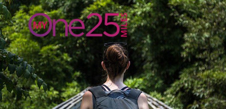 woman hiking + logo web version minus #