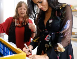 The Duchess of Sussex writes messages of empowerment on bananas
