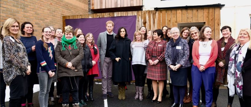Group photo with Duke and Duchess of Sussex