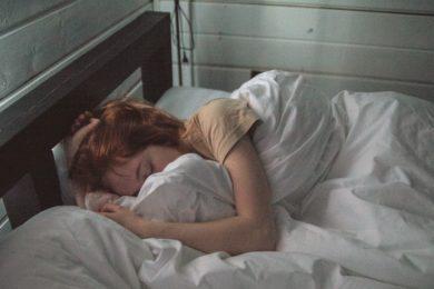 woman safe and sound asleep