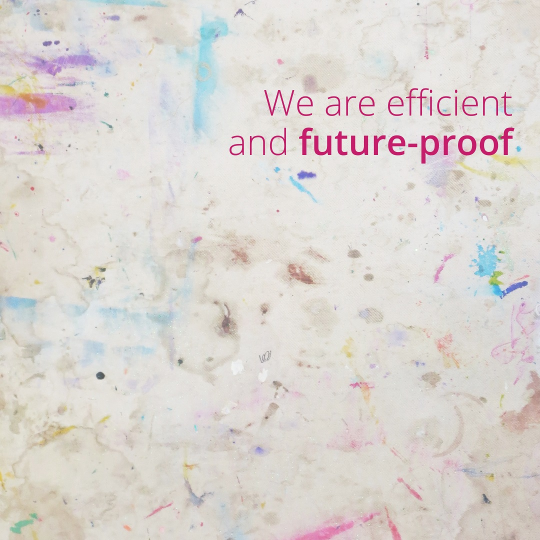 We are efficient and future-proof