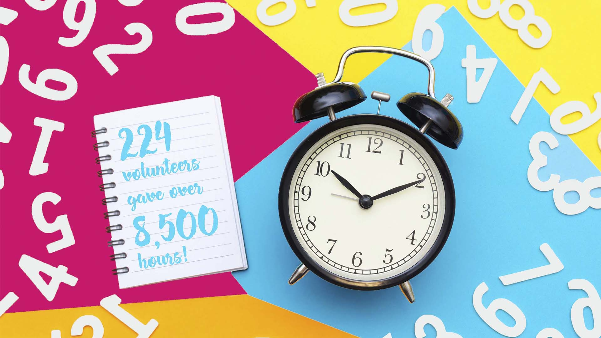 224 dedicated volunteers gave over 8,500 hours over the last year