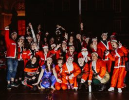 One25 fundraisers at the Santa Firewalk