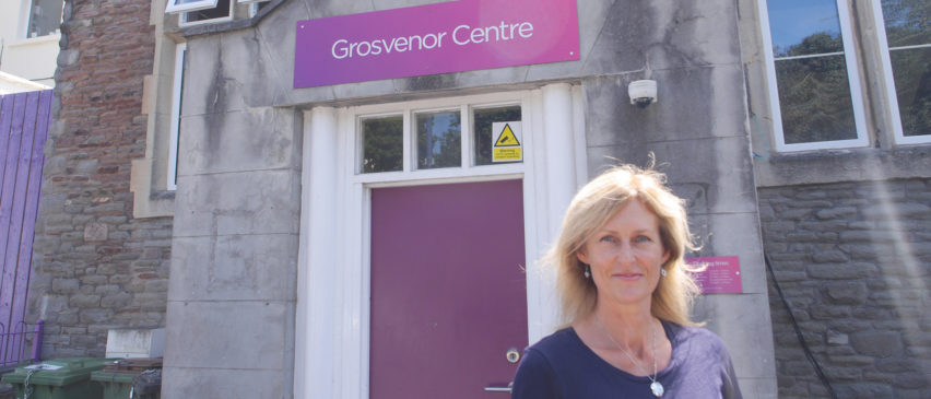 CEO Anna Smith outside the drop-in where women come into the heart of the service